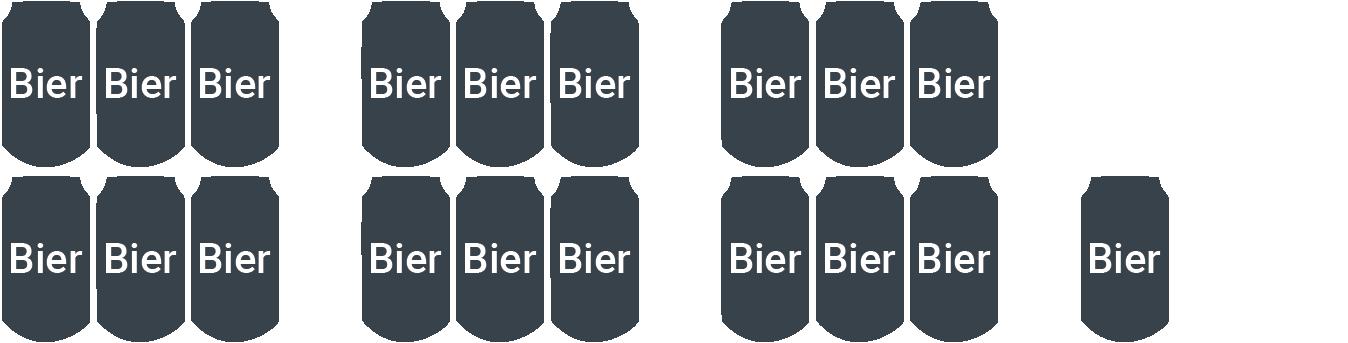 6,5 l Bier (19 x 0,33 l)