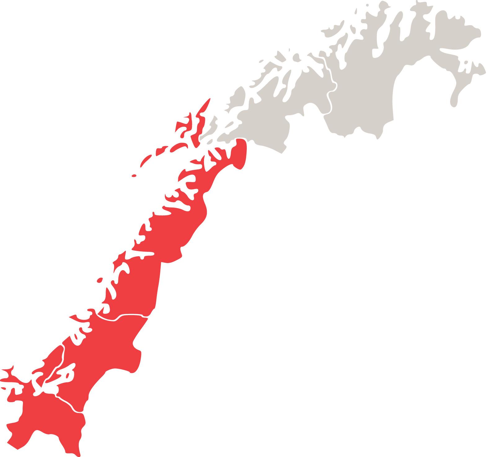 kart midt norge Customs Region Central Norway   Norwegian Customs kart midt norge