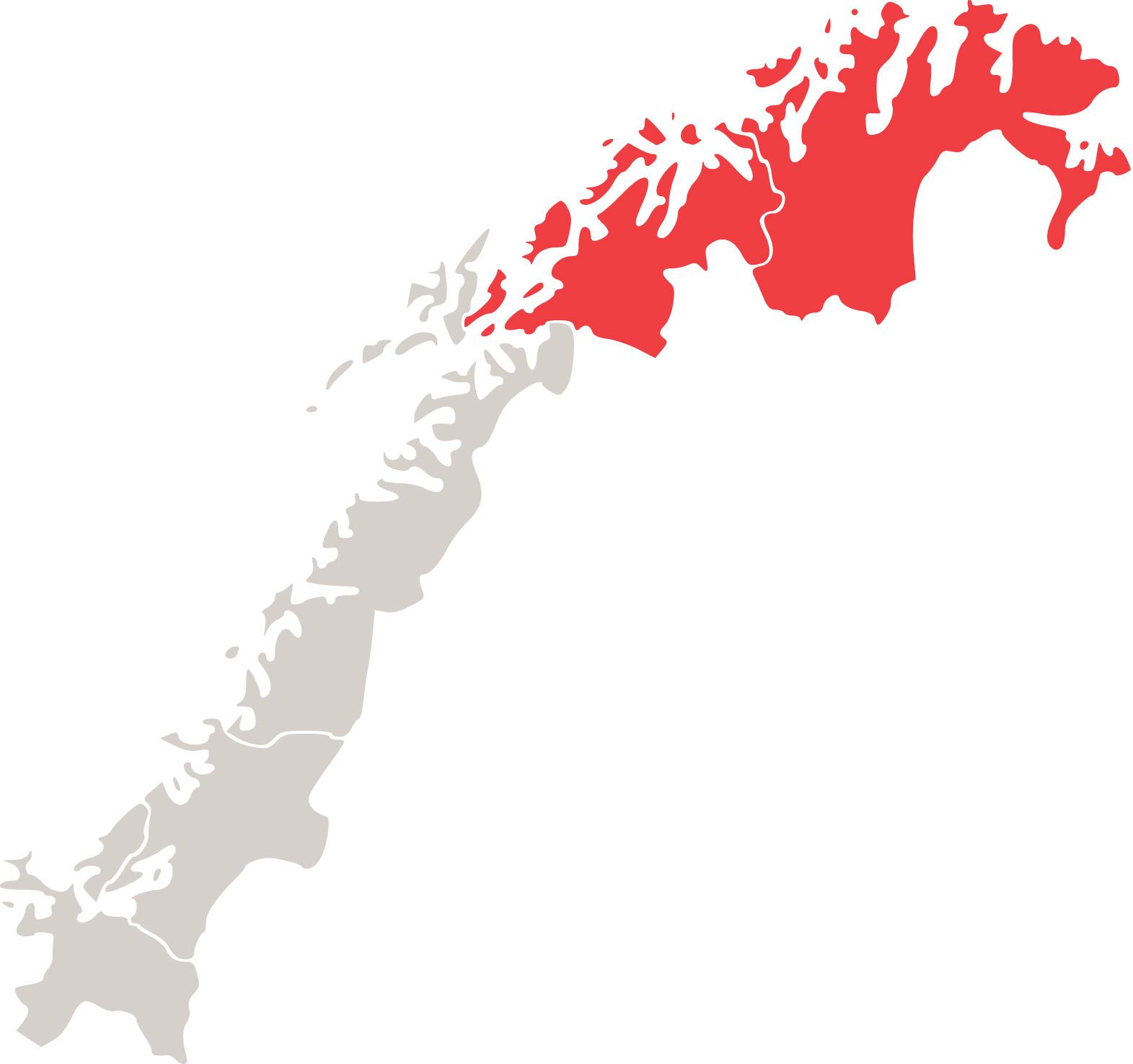 nord norge kart Customs Region Northern Norway   Norwegian Customs nord norge kart